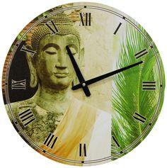 "15.75"" Buddha Wall Clock"