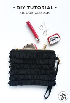 DIY Fringe Clutch Tutorial | Sew DIY