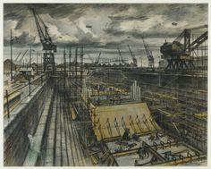 Alan Sorrell  Southampton Dock 1944