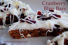 Cranberry Bliss Bars