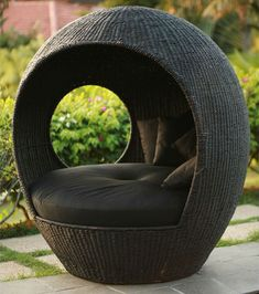 Neoteic Melon Outdoor Wicker Pod at Home Infatuation Blog