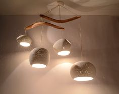 Ceiling lighting CLAYLIGHT BOOMERANG XL Four by lightexture. Etsy
