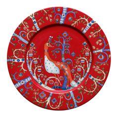 Taika lautanen 22 cm, punainen/Arabia  ... absolutely fabulous
