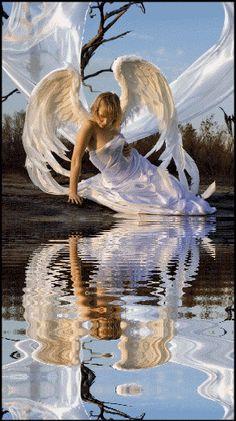 IMÁGENES, GIFS Y GLITTERS: gif animado de angeles