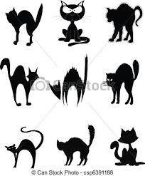 Resultado de imagen para dibujo gatos hallowen