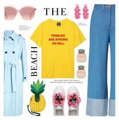 """""""Summer lover"""" by fcris7176 ❤ liked on Polyvore featuring Victoria, Victoria Beckham, Betsey Johnson, Sea, New York, Oscar de la Renta, Gucci, H&M and Ankit"""