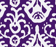 Purple ikat.