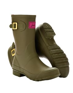 KELLYWELLY Womens Mid Length Gloss Rain Boot Wellies
