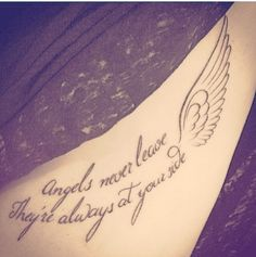 Quote for side tattoo