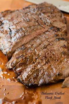 The Best and tasty Flank Steak Recipe - Oh Sweet Basil This Flank Steak hit the spot for us, tender, perfectly cooked and delicious! Who doesnt love steaks? Crockpot Steak Recipes, Skirt Steak Recipes, Flank Steak Recipes, Grilling Recipes, Cooking Recipes, Balsamic Flank Steak, Beef Flank, Marinated Flank Steak, Baked Chicken