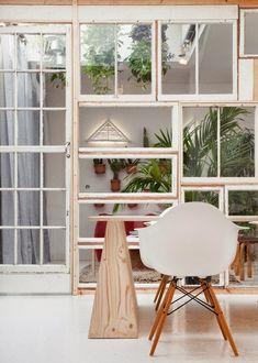 cómo hacer tus paredes con muebles reciclados
