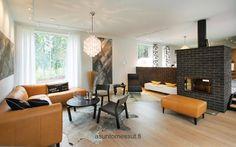 Orange in the living room Interior Inspiration, Lights, Living Room, Interior Design, Table, Furniture, Home Decor, Orange, Living Room Ideas