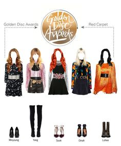 """""""Golden Disc Awards - Red Carpet -"""" by spicegirls-official ❤ liked on Polyvore featuring MSGM, Balenciaga, Yves Saint Laurent, Dolce&Gabbana, Chanel, David Koma, Chan Luu, 2b bebe, Marina Hoermanseder and Gucci"""