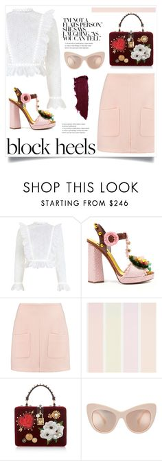 """block heels"" by lily1lol ❤ liked on Polyvore featuring Zimmermann, Dolce&Gabbana, See by Chloé and blockheels"
