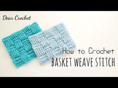 코바늘 패턴: 바스켓 웨이브 스티치 (Crochet Basket Wave Stich) - YouTube