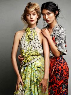 Betty Adewole, Sissi Hou and Stina Rapp,by Victor Demarchelier for The Edit