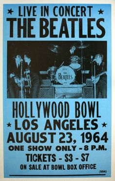 I saw The Beatles for the first time summer of 1964 at the Hollywood Bowl -- summer concerts were getting big by that time but none had been quite as big a deal as The Beatles - I was There that Night!!! Cherokee Billie