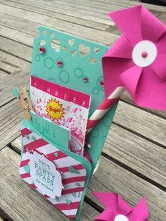 papierZART : Sommerparty, Einladung, Ahoi Brause, Challenge, Gewinn, 1. Platz, Stampin Up, Playful Backgrounds, Sale-a-Bration In Partystimmung, Partyspass, Pink, Kinderparty