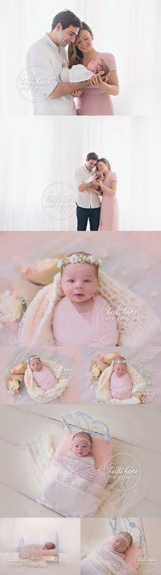 Pretty Miss O's Blush and Cream Lifestyle Newborn Session