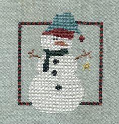 Garden Grumbles and Cross Stitch Fumbles: Just a Little Snowman - A Finish!