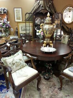 Love This Mahogany Empire Revival Style Dining Room Set Flame Delectable Dining Room Empire Inspiration