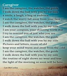 Poem: Caregiver by Lee McCurley #alzheimers #tgen #mindcrowd www.mindcrowd.org