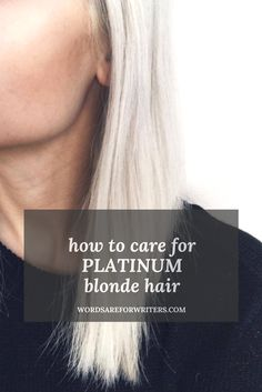 how to care for platinum hair products to help take care of your platinum blonde hair - Station Of Colored Hairs Platinum Blonde Bangs, Blonde Hair Care, Icy Blonde, Ash Blonde Hair, Platinum Blonde Hair, Blonde Balayage, Dark Curly Hair, Shiny Hair, Frizzy Hair