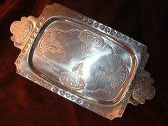 Forged aluminum tray is a mid-century by BizentoodlesGarden