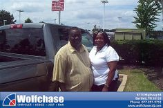 Wolfchase Chrysler Jeep would like to say Congratulations to Troy James on the 2012 Dodge Ram 1500 from Albert Brown