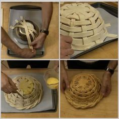 Bread Basket Come+fare+un+Cesto+di+Pasta+di+Pane More and More Pin: Food and Sweet Pin Shaping & baking a bread bowl Art with dough Cook in oven on dish! Bolo Pinata, Art Du Pain, Bread Recipes, Cooking Recipes, Bread Shaping, Bread Art, Braided Bread, Bread And Pastries, Food Decoration