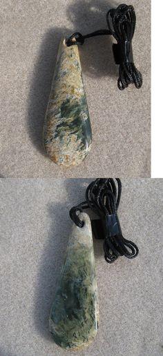 Other Ethnic Regional Jewelry 288: New Zealand Greenstone Pounamu Flower Jade Pendant Pendant #183 BUY IT NOW ONLY: $40.0