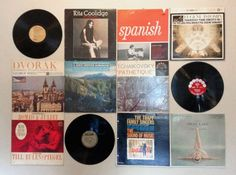 Record Wall Art // Apartment Decorating on a Budget! {get it printed no. 22} via cottagearts