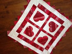 Valentine table topper
