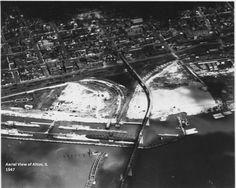 Aerial view of Alton, Illinois, 1947.