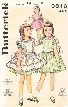 Vintage 1960s Bouffant Dress and Pinafore for by BettieJoVintage