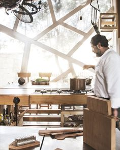 Check out our visit w/Antonio Aricò, the endearing Calabria-based contemporary designer who's turning heads around the globe –– The family kitchen in Calabria –– © Fedele Zaminga for Pamono
