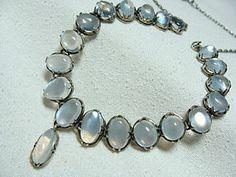 vintage moonstone jewelry | Antique Edwardian Moonstone Necklace (item #1209861)