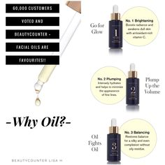 Best of Beautycounter Customer-Voted feature Facial Oils. Lightweight and luxurious, these Facial Oils are made with seven pure plant oils to deeply hydrate, while targeting specific concerns. For a limited time, get a FREE Deluxe Travel Sized Body Butter, Sugar Body Scrub or Nourishing Night Cream!! There's NO LIMIT so stock up!!  #JoinTheMovement #SwitchToSafer