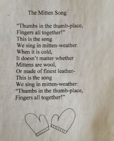 My first graders and Kindergartners sung this for years! Now I sing it to my little granddaughter, Scarlett! Songs For Toddlers, Lesson Plans For Toddlers, Kids Songs, Craft Activities For Kids, Book Activities, Winter Activities, Preschool Poems, Winter Songs For Preschool, Circle Time Songs