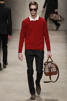 Seeing red at Burberry Prorsum Fall 2013