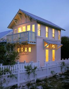 [ Tiny 2 Story Cottage with a Balcony ] .. I would personally need a little more color but I like the design =].