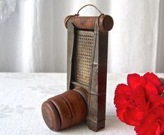 Antique Grater Nutmeg Zester Rustic Kitchen Decor by CynthiasAttic Primitive Kitchen, Rustic Kitchen Decor, Vintage Kitchen, Grater, Shabby Cottage, Shadow Box, Display, Choppers, Primitives
