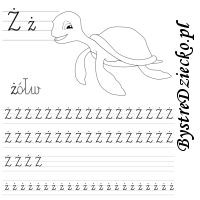 Nauka pisania literek – ż jak żółw Math Equations