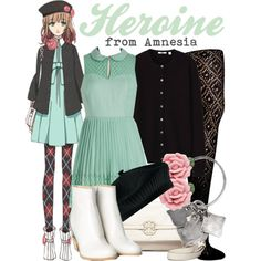 """[Amnesia] Heroine"" by animangacouture on Polyvore www.otakucouture.com"