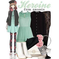 """[Amnesia] Heroine"" by animangacouture on Polyvore www.otakucouture.com"