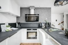 Lundin Fastighetsbyrå - Lunden - Etagelägenhet i toppklass med balkong Concrete Kitchen, Interior Photo, Kitchen Cabinets, Home Decor, Mezzanine, Top, Kitchen Maid Cabinets, Interior Design, Home Interiors