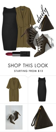 """""""daily"""" by tiinaansorg ❤ liked on Polyvore featuring Monki, Seychelles, NARS Cosmetics, plus and plussize"""