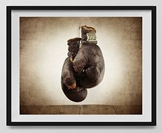 Vintage Boxing Gloves on Vintage Background Fine Art Photography Print, Sports Decor, Boxing decor, Man Cave art, Vintage Sports Nursery Art,Boxing Gloves, Nursery decor, Kids Room Wall Art. -- Learn more by visiting the image link.