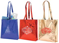 Image result for holiday custom non woven shopping totes