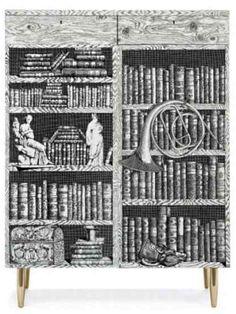 Cabinet Libri designed by Piero Fornasetti